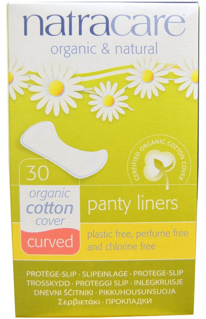 Natracare Organic Panty Liners - Curved 30 Pack