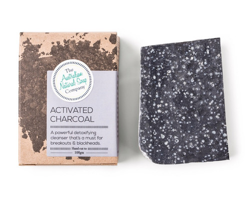 Australian Natural Soap Company Activated Charcoal Soap - with box