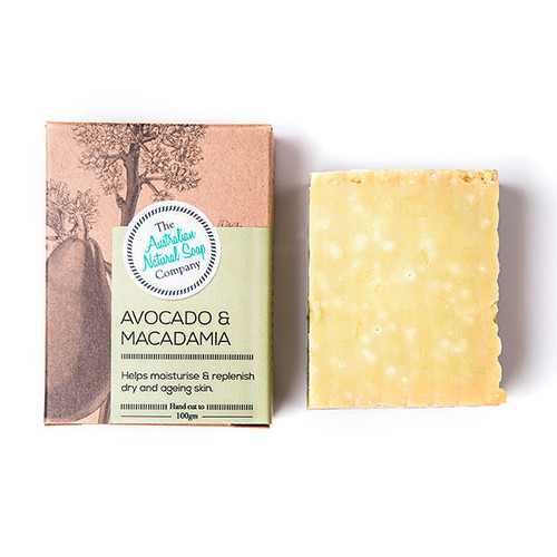 Australian Natural Soap Company Avocado & Macadamia Soap - with box