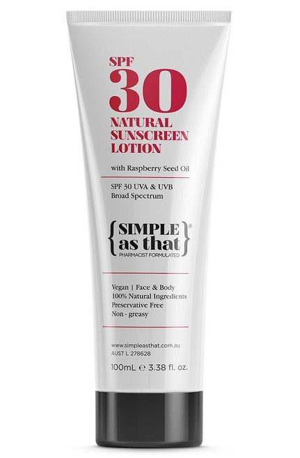 Simple As That Natural Sunscreen Lotion SPF30 100ml