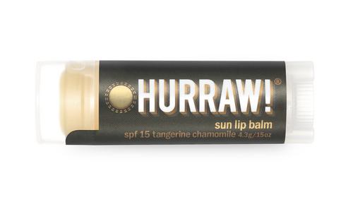 Hurraw! Organic Sun Lip Balm - SPF 15 Tangerine Chamomile