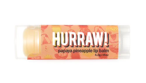Hurraw! Organic Lip Balm in Papaya Pineapple