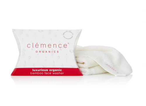Clemence Organics Luxurious Organic Bamboo Face Washer