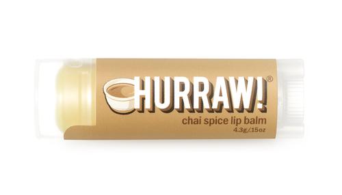 Hurraw! Organic Lip Balm in Chai Spice flavour