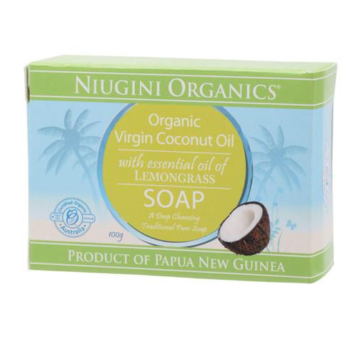 Niugini Organics Virgin Coconut Oil Soap - Lemongrass