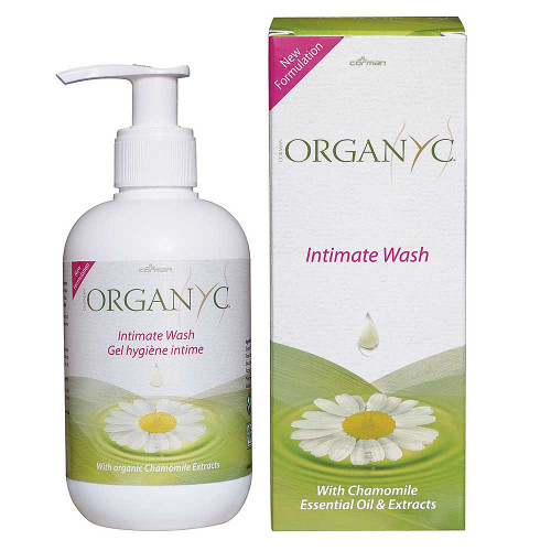 Organyc Intimate Wash in 250ml pump bottle
