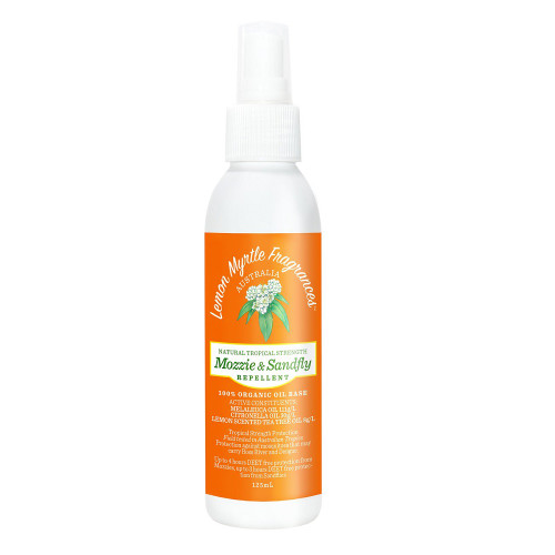 Lemon Myrtle Fragrances Mozzie & Sandfly Repellent 125ml bottle