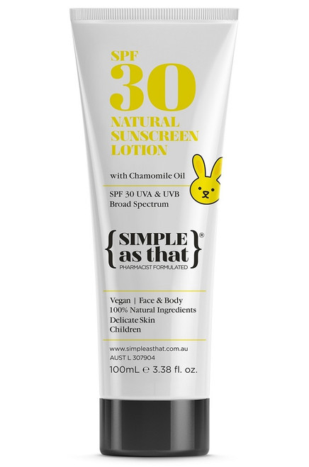 Simple As That Natural Sunscreen Lotion for Children SPF30