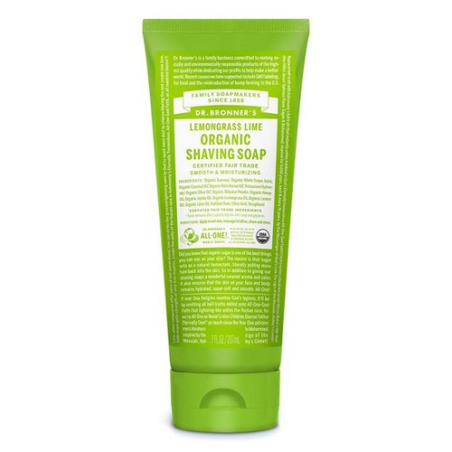 Dr Bronner's Organic Shaving Soap - Lemongrass Lime 207ml