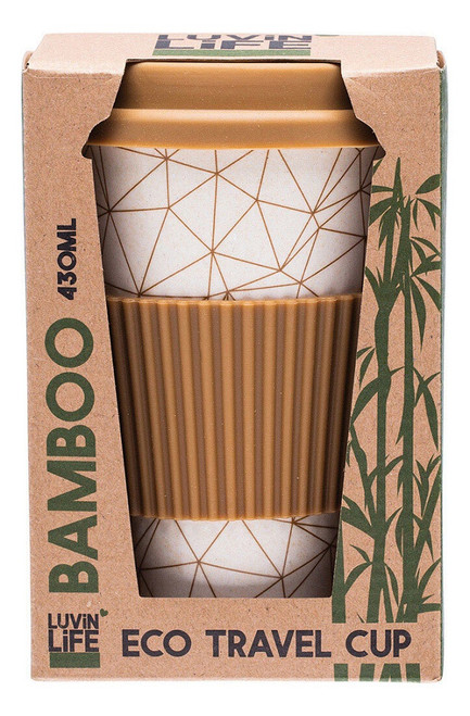 Luvin Life Bamboo Eco Travel Cup - Geo 430ml