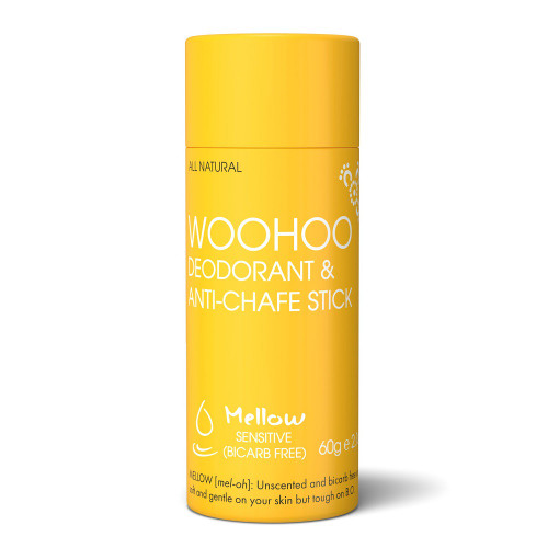 Woohoo Deodorant & Anti-Chafe Stick - Melow (Sensitive Skin) 60g