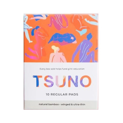 Tsuno Natural Bamboo Pads - 10 Regular