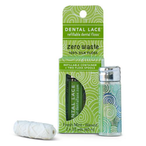 Dental Lace Refillable Dental Floss - Pine Tree 60m