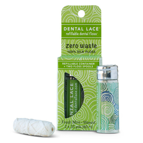 Dental Lace Refillable Dental Floss - Pine Tree 60m