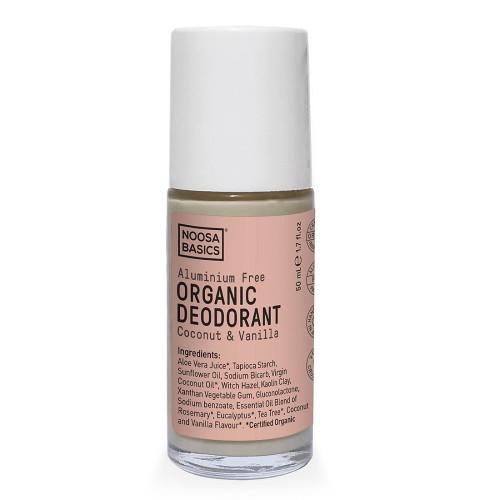 Noosa Basics Roll On Organic Deodorant - Coconut & Vanilla 50ml