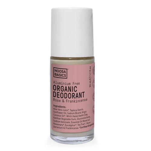 Noosa Basics Roll On Organic Deodorant - Rose & Frankincense 50ml
