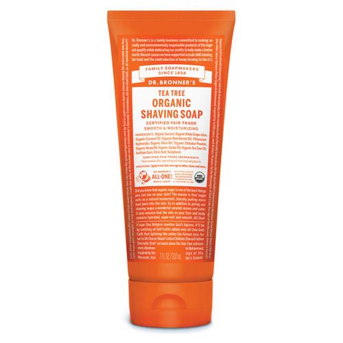 Dr Bronner's Organic Shaving Soap - Tea Tree 207ml