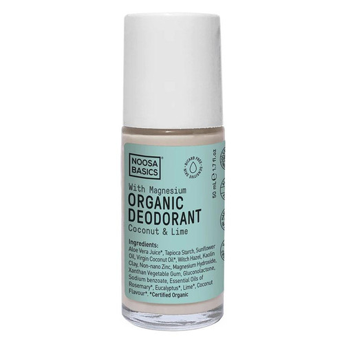Noosa Basics Roll On Organic Deodorant with Magnesium - Coconut & Lime 50ml