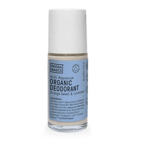 Noosa Basics Roll On Organic Deodorant with Magnesium - Orange Sweet & Lavender 50ml