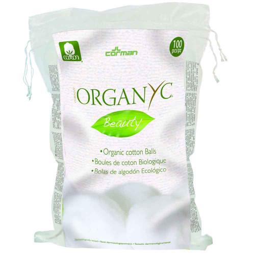 Organyc Beauty Cotton Wool Balls 100 Pack