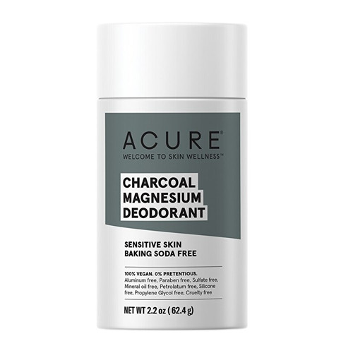 Acure Natural Deodorant Stick - Charcoal Magnesium (Sensitive Bicarb Free) 62.4g