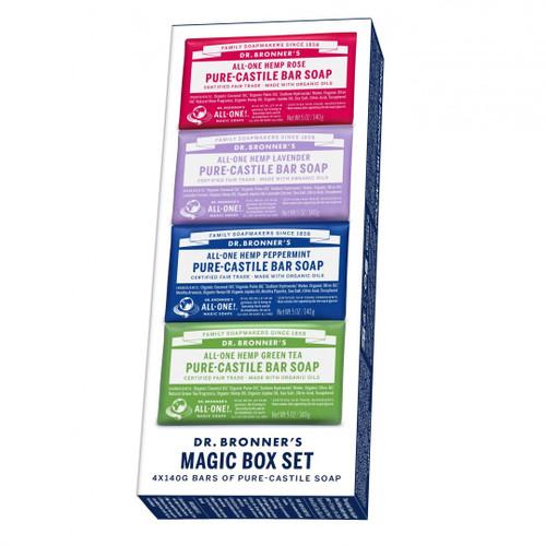 Dr Bronner's Magic Box Set - 4 Soap Bar Pack