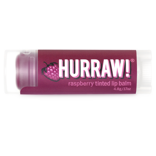 Hurraw! Organic Tinted Lip Balm - Raspberry 4.8g
