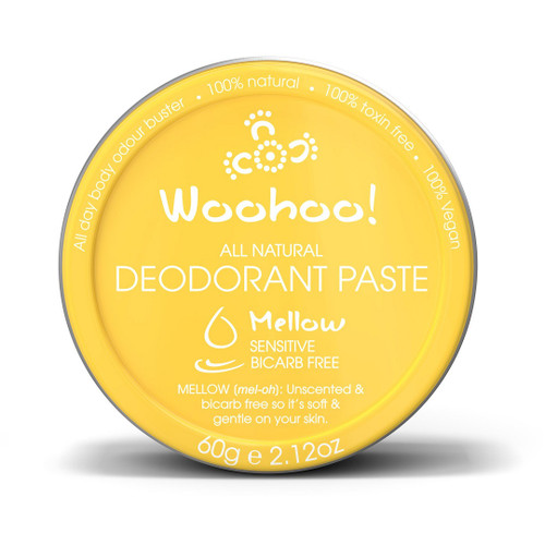 Woohoo All Natural Deodorant Paste - Mellow (Sensitive Bicarb Free) 60g