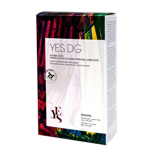 YES DG Double Glide Water & Plant-Oil Personal Lubricants - 2 Pack