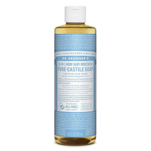 Dr Bronner's Pure Castile Soap - Baby Unscented 473ml