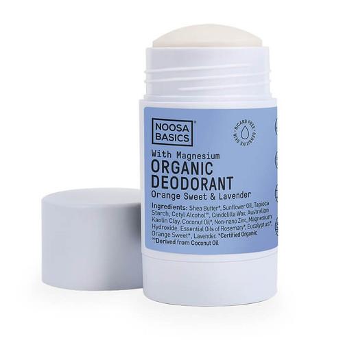 Noosa Basics Organic Deodorant Stick with Magnesium - Orange Sweet & Lavender 60g