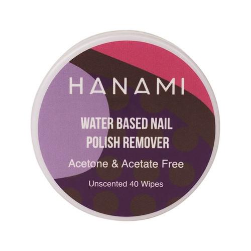 Hanami Water Based Nail Polish Remover Wipes - 40 Unscented