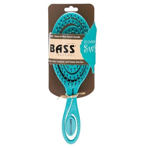 Bass Brushes Bio-Flex Detangler Hair Brush - Teal