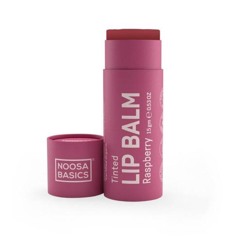 Noosa Basics Organic Tinted Lip Balm - Raspberry 15g
