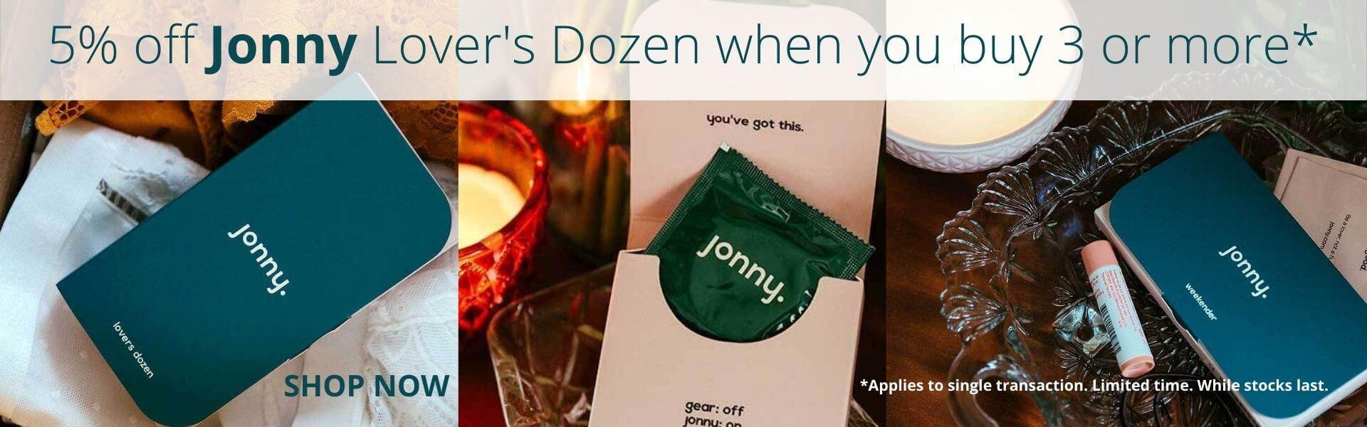 Jonny Lover's Dozen Condoms 5% off