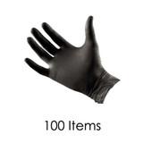 Black Latex Gloves - Medium - Pack of 100 Items