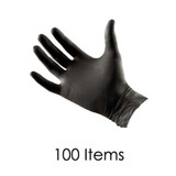 Black Latex Gloves - Large - Pack of 100 Items
