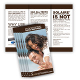 Solaire® - Teeth Whitening Brochure In Salon - 25 Pack