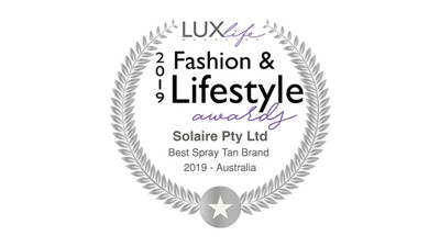 Solaire Named Best Spray Tan Brand for 2019 – Australia by LuxLife.