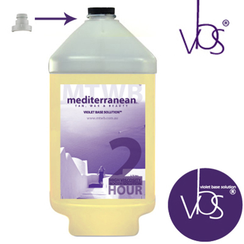 MediterraneanTan® - High Viscosity 2 HOUR Booth Solution - INDUCTAFUZE® Violet - VBS® - Clear