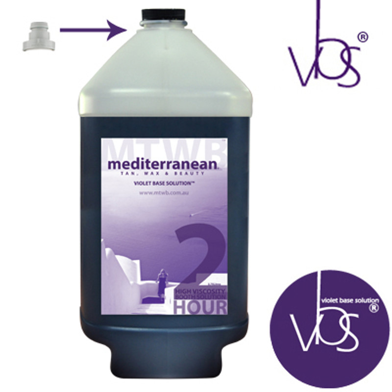 MediterraneanTan® - High Viscosity 2 HOUR Extreme Booth Solution - INDUCTAFUZE® Violet - VBS®