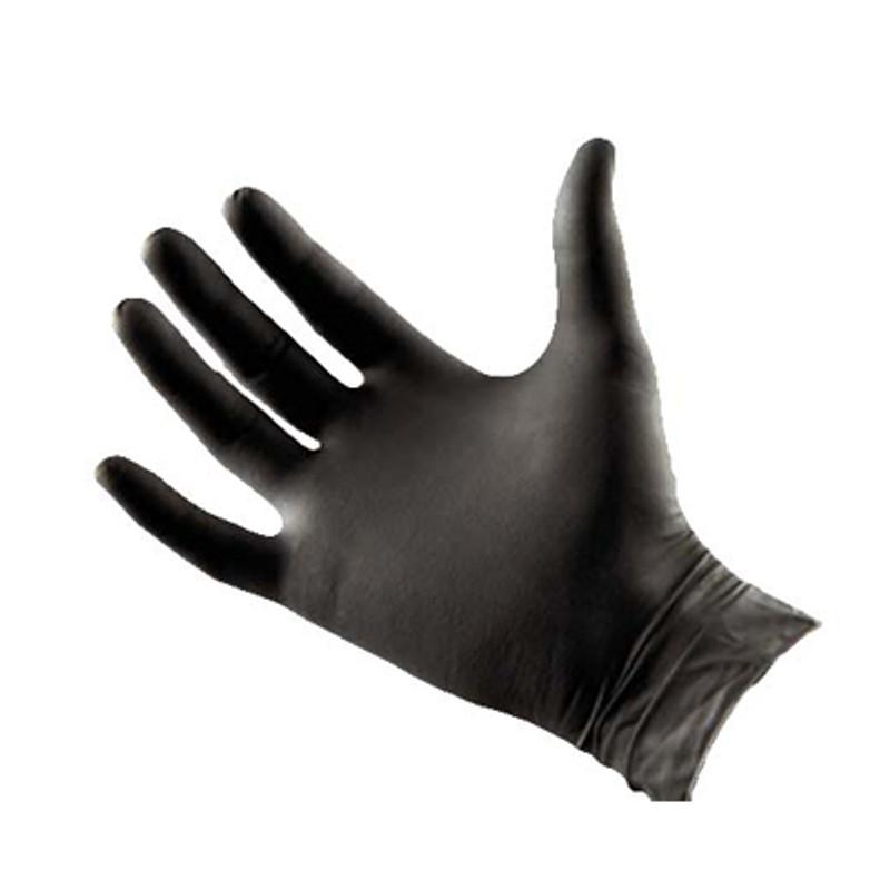 Black Latex Gloves - Large