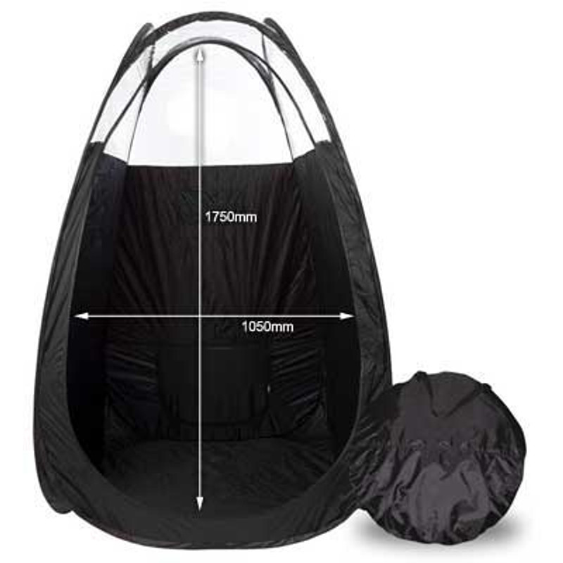 Pop Up Tent with Carry Bag - Black
