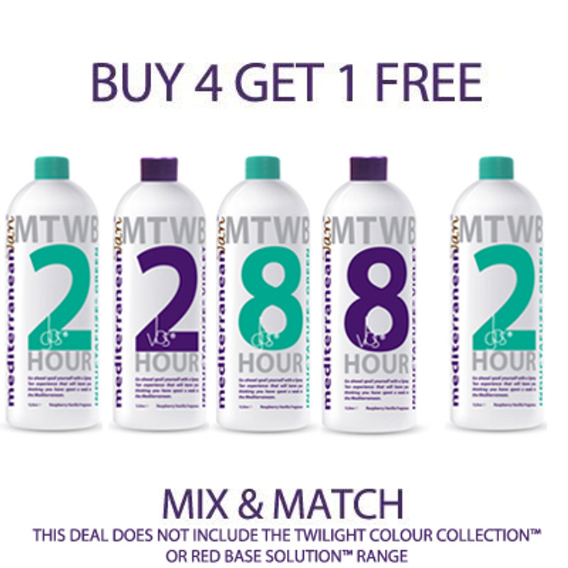 BUY ANY 4 MediterraneanTan® Spray Tan Solutions GET 1 FREE