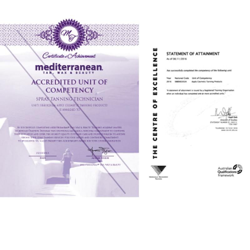 Mediterranean Tan Accredited spray tan training
