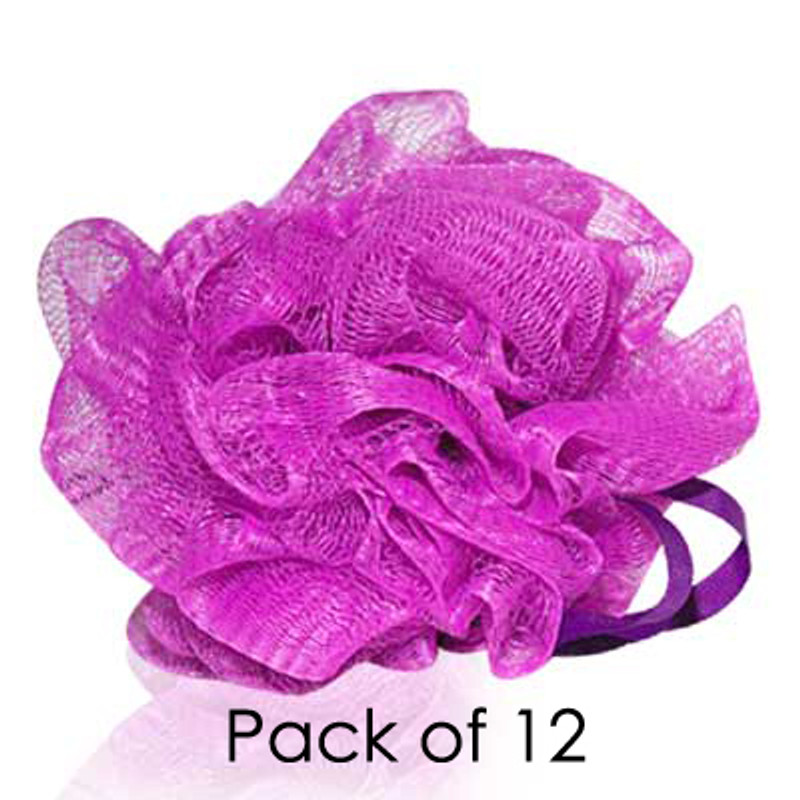 MediterraneanTan® - Body Wash Puff - Purple - 12 Pack