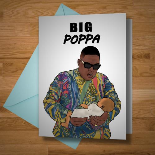 """""""Big Poppa"""" card"""