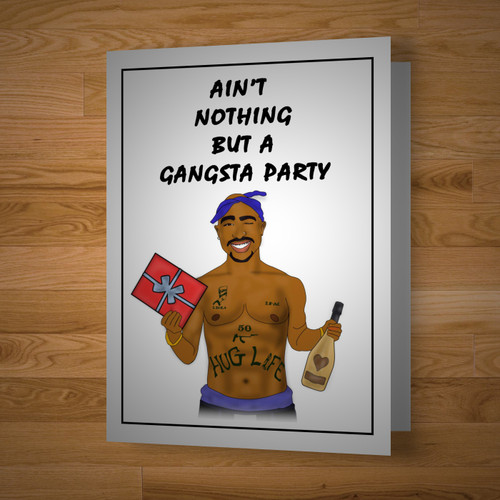 """Gangsta Party"" card"