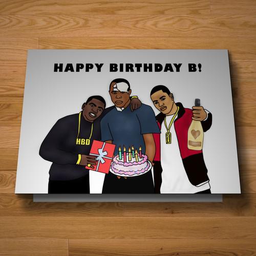 """""""Harlem"""" birthday card"""