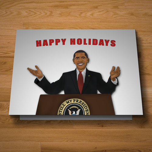 """Presidential"" holiday card"